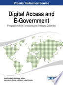 Digital Access And E Government Perspectives From Developing And Emerging Countries Book PDF
