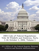 2004 Code Of Federal Regulations