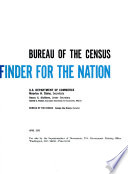 Bureau of the Census--fact finder for the Nation