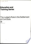 The Judge S Role In The Settlement Of Civil Suits