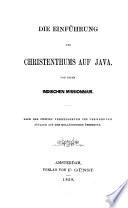 Die Einführung des Christenthums auf Java