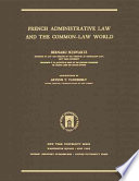 French Administrative Law and the Common-law World