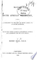 Manual of South African Geography, etc