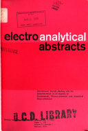 Electroanalytical Abstracts
