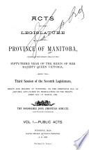 Lois Du Manitoba Pdf/ePub eBook