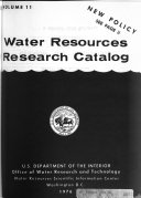 Water Resources Research Catalog