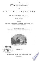 A Cyclop Dia Of Biblical Literature