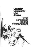 Revue Canadienne de Droit Communautaire