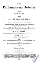The Parliamentary Debates  v  1 41  Nov  1803