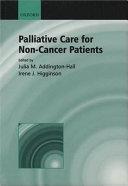 Palliative Care for Non cancer Patients