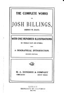 The Complete Works of Josh Billings  Henry W  Shaw
