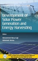 Development of Solar Power Generation and Energy Harvesting