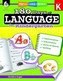 180 Days of Language for Kindergarten  Practice  Assess  Diagnose Book PDF