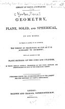 Pdf Geometry, Plane, Solid, and Spherical, in Six Books