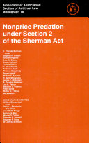 Nonprice Predation Under Section 2 of the Sherman Act