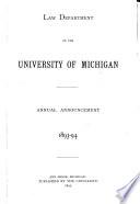 University of Michigan Law School Bulletin