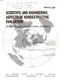 Scientific and Engineering Aspects of Nondestructive Evaluation Book