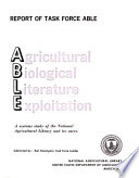 Agricultural Biological Literature Exploitation