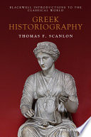 Greek Historiography Book