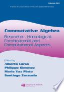 Commutative Algebra