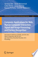 Computer Applications For Web Human Computer Interaction Signal And Image Processing And Pattern Recognition Book PDF