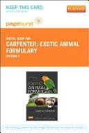 Exotic Animal Formulary Book