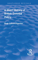Pdf A Short History of British Colonial Policy Telecharger