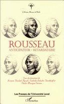 Pdf Rousseau, anticipateur-retardataire Telecharger