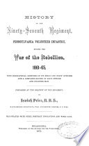 History of the Ninety Seventh Regiment  Pennsylvania Volunteer Infantry  During the War of the Rebellion  1861 1865