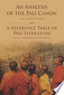 An Analysis of the Pali Canon and a Reference Table of Pali Literature Book