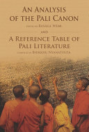 An Analysis of the Pali Canon and a Reference Table of Pali Literature