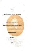 The Miscellaneous Works of David Humphreys