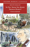 So You Think You Know Thomas Hardy