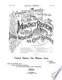 Monthly Review of the Iowa Weather and Crop Service