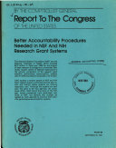 Better accountability procedures needed in NSF and NIH research grant systems