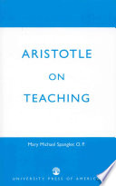 Aristotle on Teaching