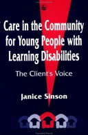Care in the Community for Young People with Learning Disabilities