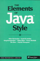 The Elements of Java(TM) Style