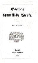 Göthe's sämmtliche Werke ... Mit Bidlniss und Facsimile
