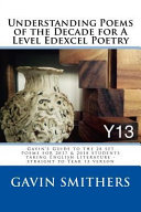 Understanding Poems of the Decade for a Level Edexcel Poetry