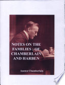 Notes On The Families Of Chamberlain And Harben