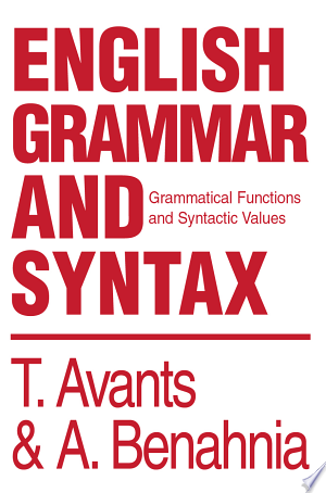 Download English Grammar and Syntax Free Books - Dlebooks.net