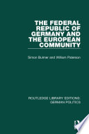 The Federal Republic Of Germany And The European Community Rle German Politics