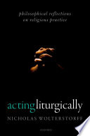 Acting Liturgically