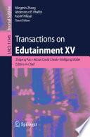 Transactions on Edutainment XV