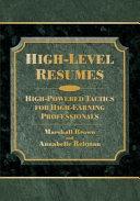 High-level Résumés