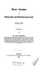 Anzeiger für Literatur der Bibliothekwissenschaft