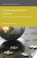 Challenging Global Finance