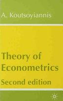 Theory of Econometrics