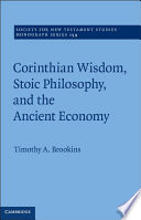 Corinthian Wisdom, Stoic Philosophy, and the Ancient Economy